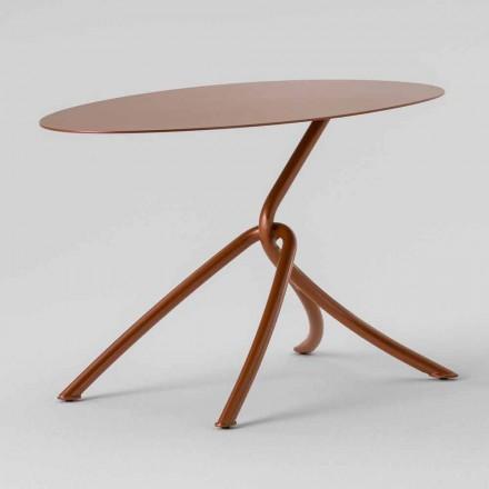 Tavolino da Esterno Pregiato in Metallo Verniciato Made in Italy - Lubecca