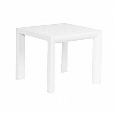 Tavolino da Esterno Quadrato Alluminio Verniciato, Homemotion 2 Pezzi - Marius