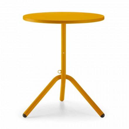 Tavolino da Esterno Rotondo in Metallo e Lamiera Made in Italy - Alberic