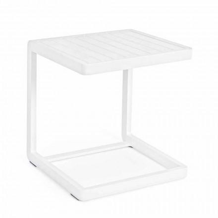 Tavolino da Giardino in Alluminio Verniciato, Homemotion, 2 Pezzi - Rodric