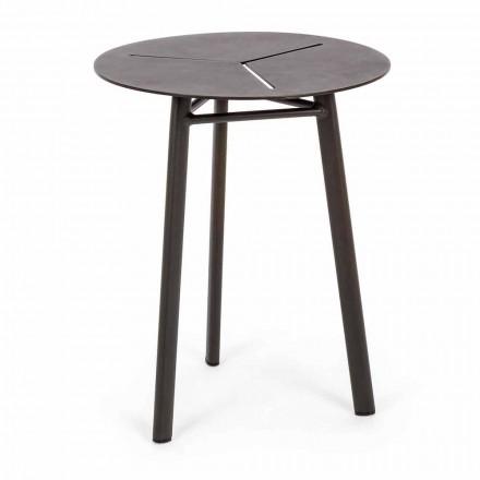 Tavolino da Giardino Rotondo in Alluminio di Design Homemotion - Nigerio