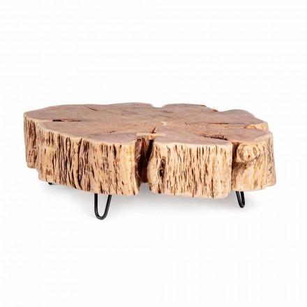 Tavolino da Salotto con Piano Sagomato in Legno di Acacia Homemotion - Nabucco