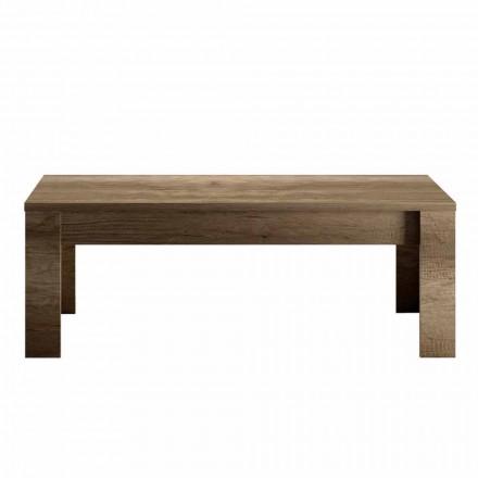 Tavolino da Salotto Design in Melaminico Rovere o Bianco Made in Italy - Terno