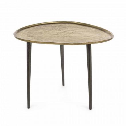 Tavolino da Salotto di Design con Piano in Alluminio Homemotion - Yamila