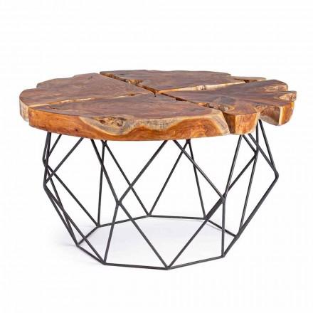 Tavolino da Salotto di Design con Piano in Teak Homemotion - Grillo