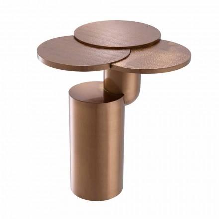 Tavolino da Salotto di Design in Acciaio Finitura Rame Spazzolato - Olbia