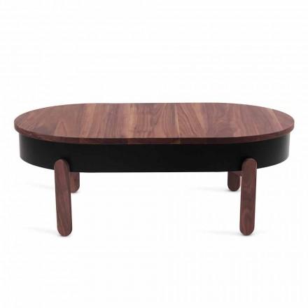 Tavolino da Salotto di Design in Legno Massello e Metallo Laccato - Salerno