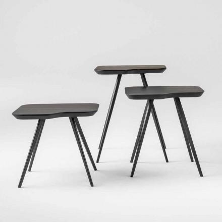 Tavolino da Salotto di Lusso con Piano in Frassino Massello Made in Italy - Ulma