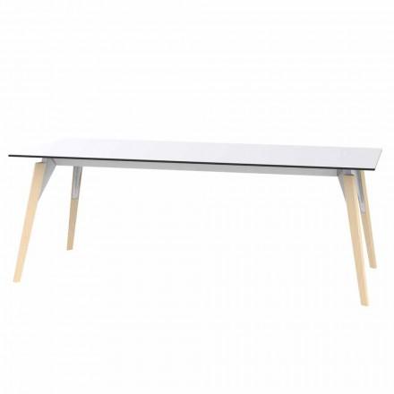 Tavolino da Salotto in Laminato Bianco o Nero in 2 Misure - Faz Wood by Vondom