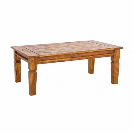Tavolino da Salotto in Legno d'Acacia Massello Design Classico Homemotion - Remo