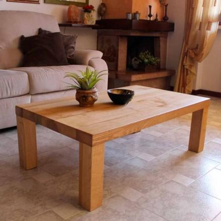 Tavolino da Salotto in Legno Massello di Frassino Made in Italy – Nicea