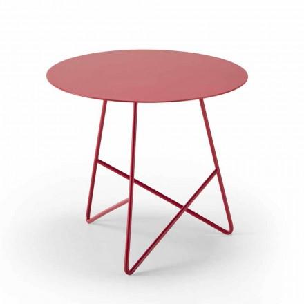 Tavolino da Salotto in Metallo Colorato e 3 Dimensioni, Made in Italy - Magali