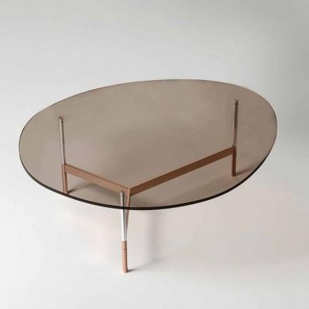Tavolino da Salotto Moderno con Piano in Vetro Made in Italy - Cinci