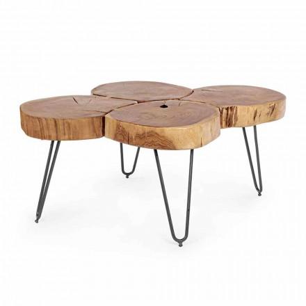 Tavolino da Salotto Moderno in Legno e Acciaio Verniciato Homemotion - Severo