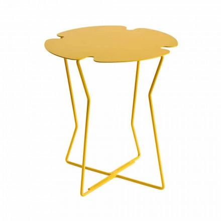 Tavolino da Salotto per Esterno in Metallo Colorato di Design Moderno - Kathrin