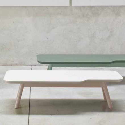 Tavolino da Salotto Pregiato in Legno di Frassino Massello Made in Italy - Ulma