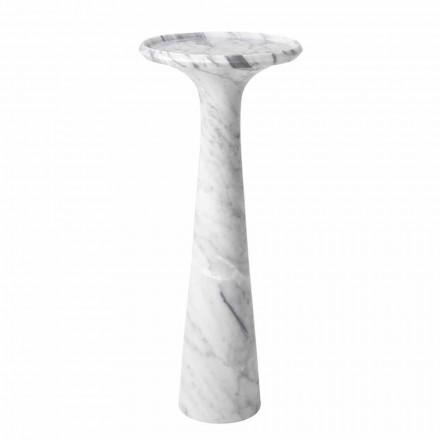 Tavolino da Salotto Rotondo di Design in Marmo Bianco di Carrara - Udine