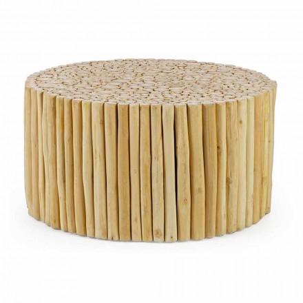 Tavolino da Salotto Rotondo Formato da Rami in Teak Homemotion - Rametto