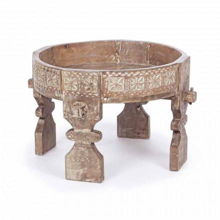 Tavolino da Salotto Stile Rustico in Legno di Mango Homemotion - Sania