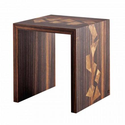 Tavolino design da fumo legno di ebano Grilli Zarafa fatto in Italia