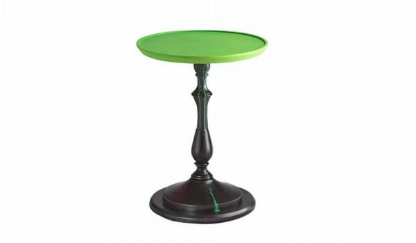 Tavolino Salotto Verde : Tavolino design da salotto con piano laccato verde diametro 50cm nik