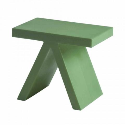 Tavolino geometrico colorato Slide Toy da interni prodotto in Italia