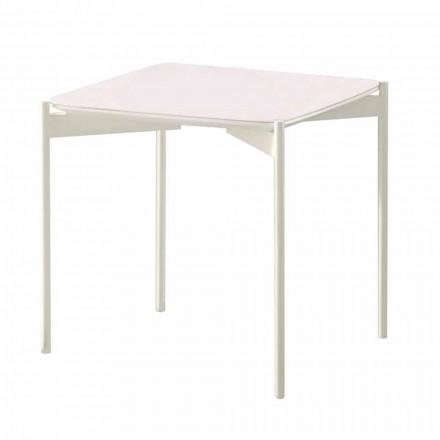Tavolino da Salotto Quadrato in Ceramica e Metallo di Design Moderno – Istrice