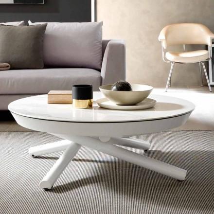Tavolino in Ceramica Trasformabile in Tavolo da Pranzo Made in Italy - Azelio