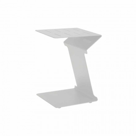 Tavolino Laterale da Divano per Esterno in Alluminio Bianco o Antracite - Deniz