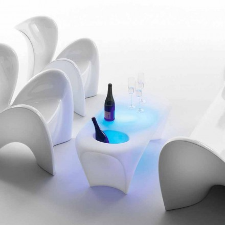 Tavolino Luminoso con Spumantiera, Design da Esterno o Interno - Lily by Myyour