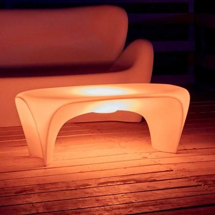 Tavolino Luminoso RGB da Esterno o Interno Design in Plastica - Lily by Myyour