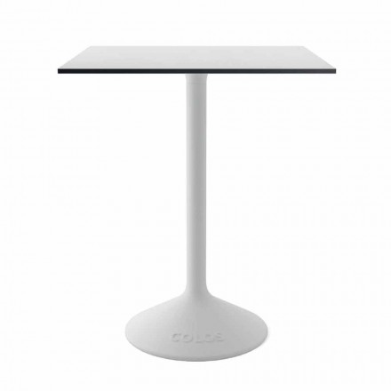Tavolino Moderno in Metallo Ghisa e HPL da Esterno Made in Italy - Colby