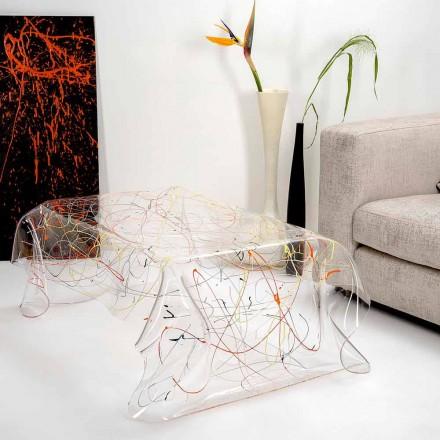 Tavolino moderno in plexiglass multicolor made in Italy, Asia