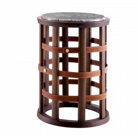 Tavolino moderno tondo da fumo Grilli Harris fatto in Italia