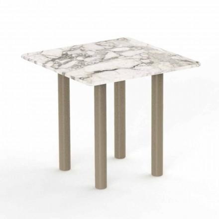 Tavolino Quadrato da Caffè per Esterno in Alluminio e Gres – Panama by Talenti