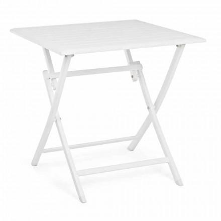 Tavolino Quadrato da Esterno Pieghevole in Alluminio Verniciato - Hunt