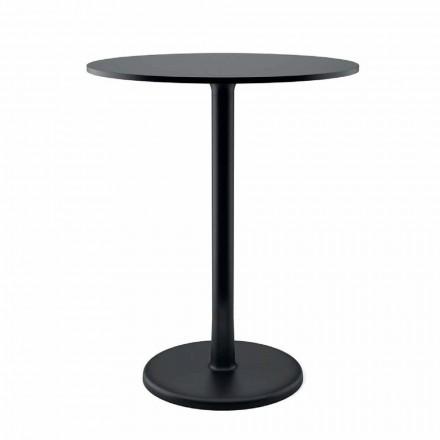 Tavolino Rotondo da Esterno in Metallo, Ghisa e HPL Made in Italy - Brooks