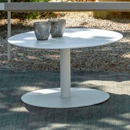 Tavolino Rotondo da Giardino in Alluminio Bianco o Carbone – Key by Talenti