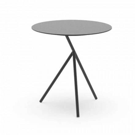 Tavolino Rotondo da Giardino in Alluminio Bianco o Carbone – Sofy by Talenti