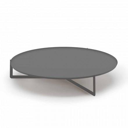 Tavolino Rotondo da Esterno in Metallo di Alta Qualità Made in Italy - Stephane
