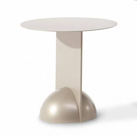 Tavolino Rotondo di Design in Metallo Made in Italy - Bonaldo Combination