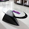Tavolino Salotto con Piano in Vetro con Serigrafia Made in Italy - Campari