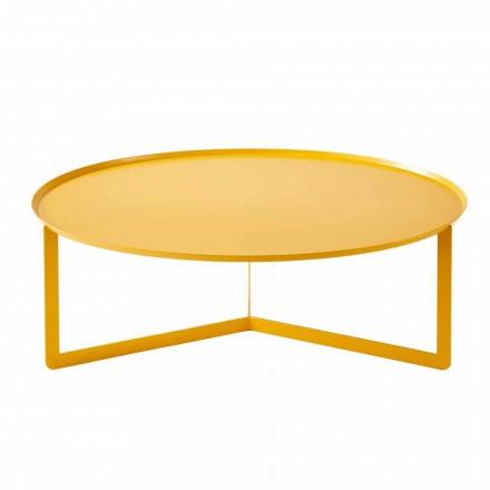 Tavolino Moderno Tondo da Caffè per Esterno in Metallo Made in Italy - Stephane