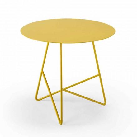 Tavolino Tondo da Giardino in Metallo di Vari Colori e 3 Dimensioni - Magali