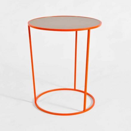 Tavolino Tondo da Salotto Moderno in Metallo Colorato Made in Italy - Raphael