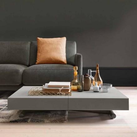 Tavolino Trasformabile Moderno con Piano Effetto Malta Made in Italy - Patroclo