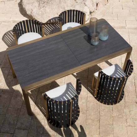 Tavolo Allungabile 340 cm Pranzo Esterno in Alluminio e Vetro o Laminam - Julie