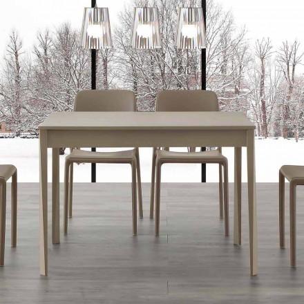 Tavolo allungabile con gambe in legno massello Empoli, design moderno