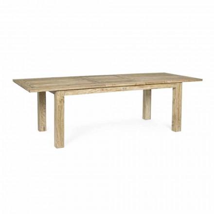 Tavolo da Giardino Allungabile a 260 cm in Legno, 8 Posti Homemotion - Gismondo