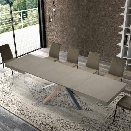 Tavolo Allungabile da Pranzo in Legno Design Moderno fino a 3,1 m - Argentario